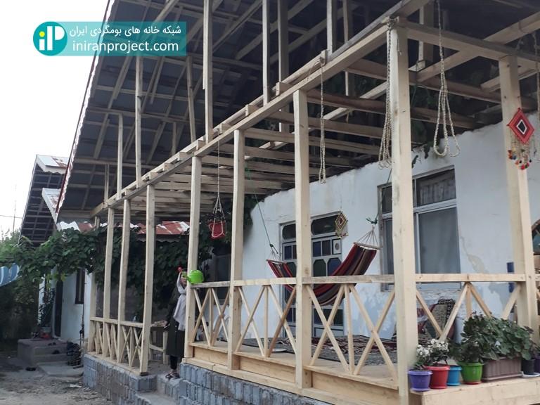 تصویری از ساختمان در حال تکمیل خانه بومگردی دیلمای