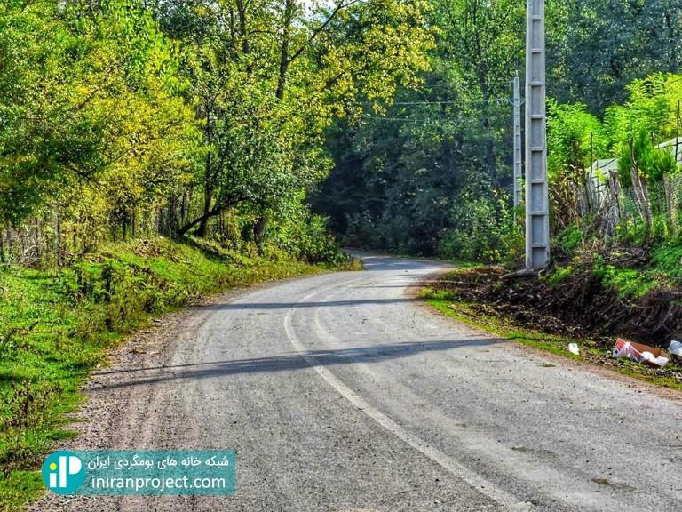 تصویری از مسیر دسترسی خانه بومگردی گالش کولام