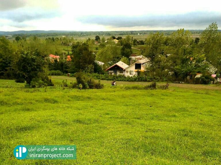 تصویری از نمای روستای تازه آباد از ارتفاعات اطراف