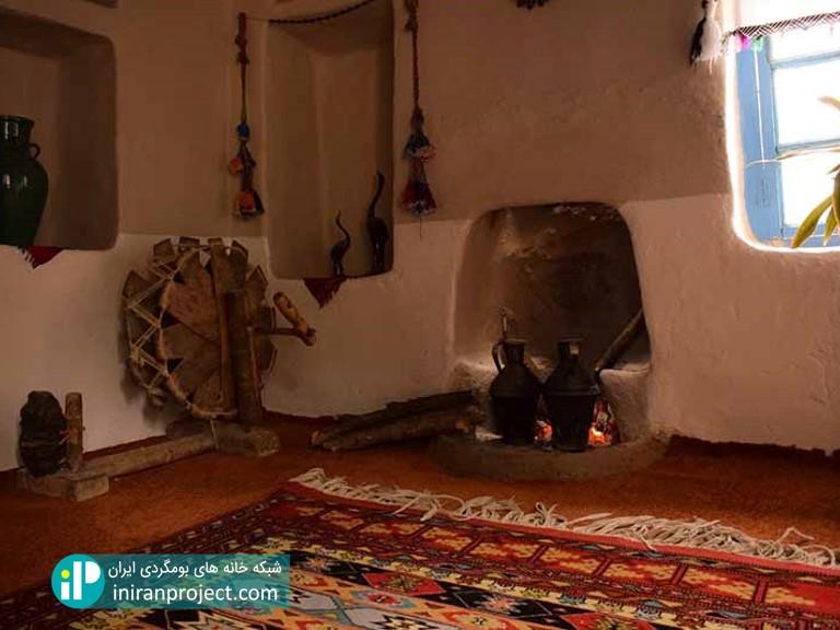 نمای داخلی اتاق های خانه بومگردی ساسنگ
