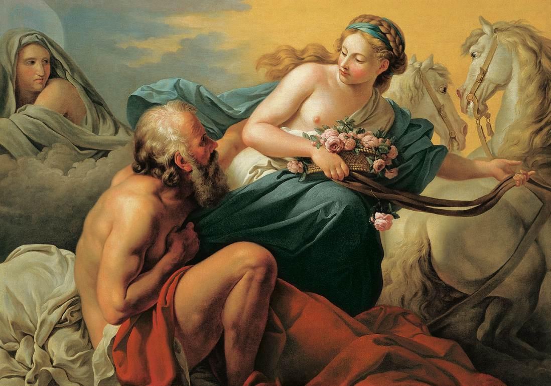آئورورا و تیتون الهه های روم باستان
