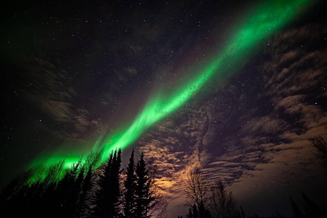 تصویر شفق قطبی در فیربنکز