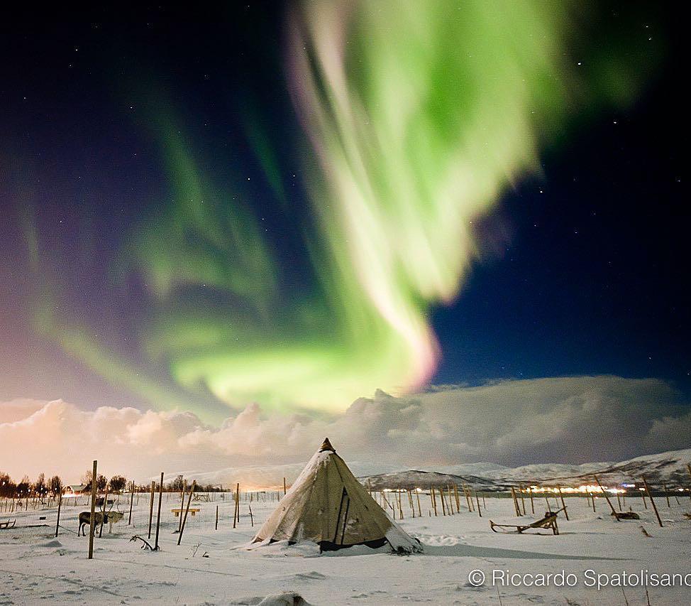 تصویری از شفق قطبی در ترومسو – نروژ