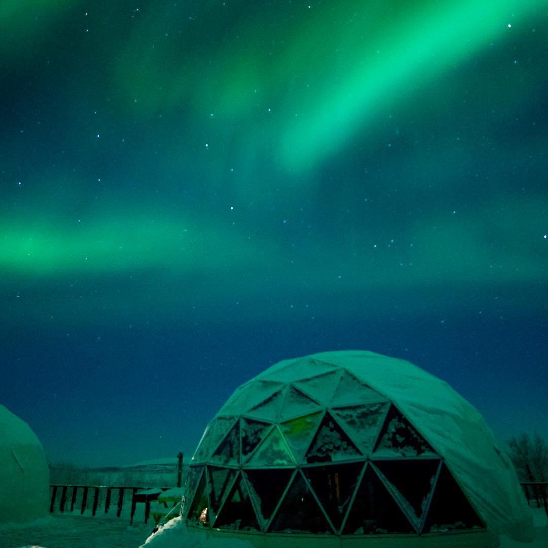تصویری از شفق قطبی در مورمانسک روسیه