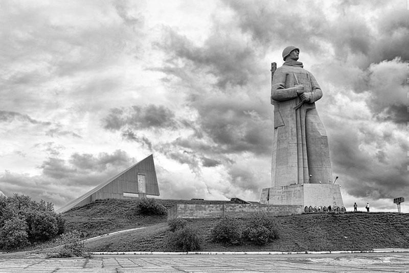 نمایی از مجسمه آلیوشا در مورمانسک