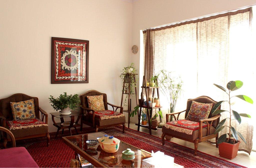 سالن خانه و فضای عمومی در اختیار مهمانان خانه بوتیک تهرانی
