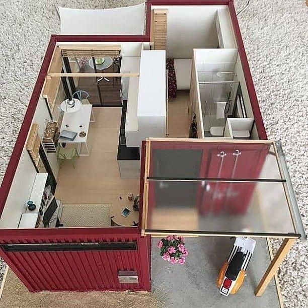 طرح یک خانه ساده با استفاده از کانتینر